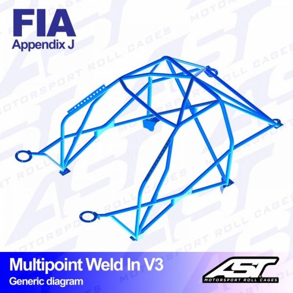 Arceau Multipoint Weld In V3 AST Peugeot 205 3 Portes
