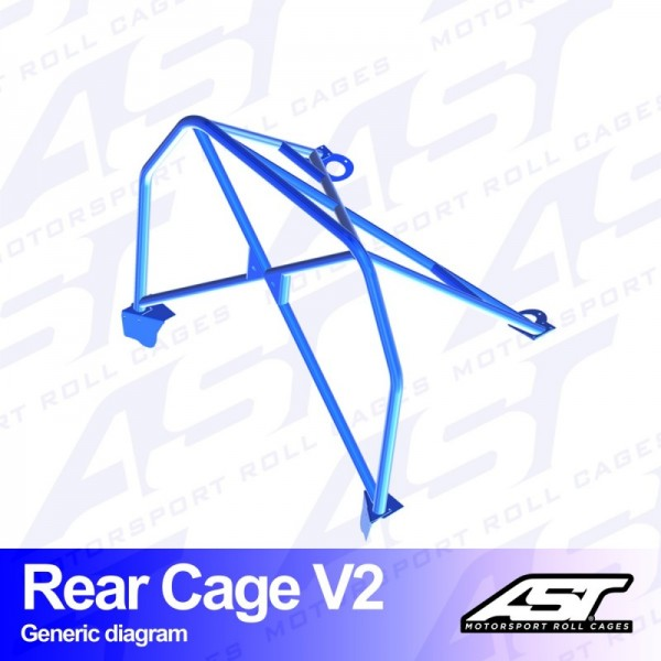 Cage arrière V2 AST Peugeot 205 3 Portes